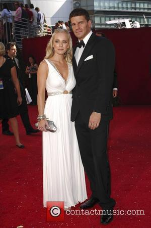Jaime Bergman and David Boreanaz 60th Annual Primetime Emmy Awards held at Nokia Theatre _ Arrivals Los Angeles, California -...