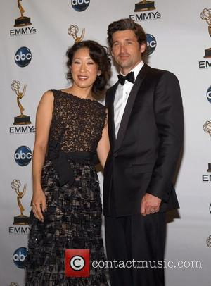 Sandra Oh and Patrick Dempsey 60th Annual Primetime Emmy Awards held at Nokia Theatre - press room Los Angeles, California...