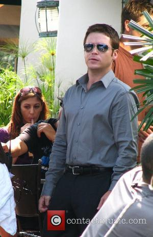 Kevin Connolly The cast of HBO's 'Entourage' filming a scene at the Urth Cafe on Melrose Avenue in West Hollywood...