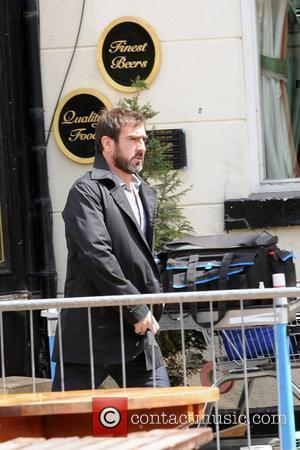 Eric Cantona filming on the movie set of 'Looking For Eric' in Manchester City Centre Manchester, England - 16.06.08