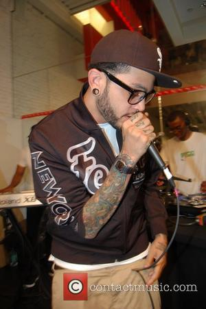 Travis McCoy Estelle performing at the Puma store in SoHo New York City, USA - 14.06.08