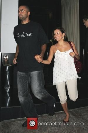Tony Parker and Eva Longoria Parker leaving Beso restaurant after dining with friends Eva appears to be wearing very loose...