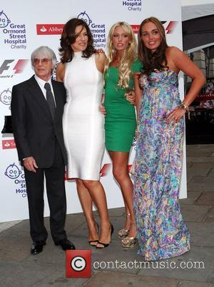 Bernie Ecclestone, SlavikaTamara & Petra Ecclestone The F1 Party at the Bloomsbury Ballroom London, England - 02.07.08