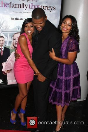 Taraji P. Henson, Tyler Perry and Sanaa Lathan Screening of Tyler Perry's 'The Family That Preys' at AMC Loews Lincoln...