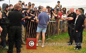 Michael Eavis holds a press conference at the Glastonbury festival - day 3 Somerset, England - 29.06.08