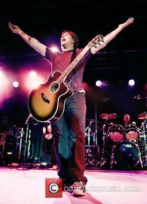 John Rzeznik and Mike Malinin of The Goo Goo Dolls  performing at Liverpool Carling Academy as part of their...