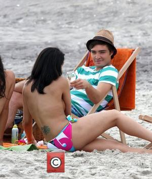 Ed Westwick The film set for 'Gossip Girl' at a beach in Far Rockaway New York City, USA - 26.06.08