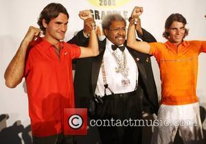 Roger Federer, Don King and Rafael Nadal