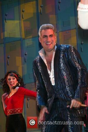 Taylor Hicks  from Amercian Idol takes his curtain call after his first performance as Teen Angel in the Broadway...