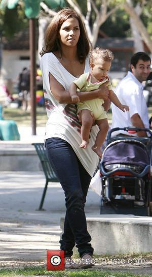 Halle Berry spending time with her baby daughter Nahla Ariela Aubry and her mum at the park in Beverly Hillls....