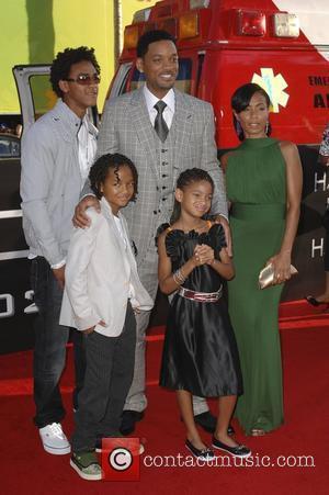 Trey Smith, Will Smith, Jada Pinkett-Smith, Willow Smith and Jaden Smith Los Angeles premiere of 'Hancock' held at the Grauman's...