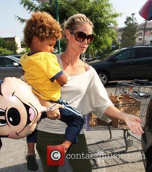Heidi Klum and Mickey Mouse