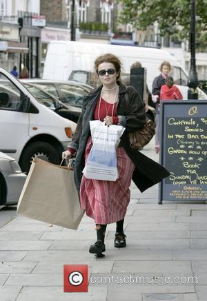 Helena Bonham Carter walks through Primrose Hill carrying some shopping London, England - 03.09.08