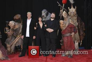 Ron Perlman, Selma Blair and Guillermo del Toro The 'Hellboy 2: The Golden Army' premiere at the Mann Village Theater...