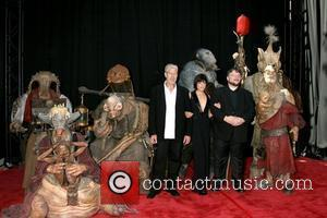 Ron Perlman, Selma Blair and Guillermo de Toro The 'Hellboy 2: The Golden Army' premiere at the Mann Village Theater...
