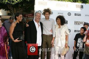 Ron Perlman with his family The 'Hellboy 2: The Golden Army' premiere at the Mann Village Theater Los Angeles, California...