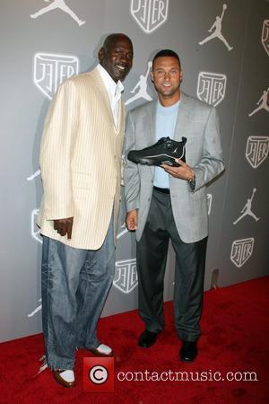 Michael Jordan and Derek Jeter Celebrities and Athletes Celebrate Derek Jeter in High Style at the Marquee Nightclub - Arrivals...