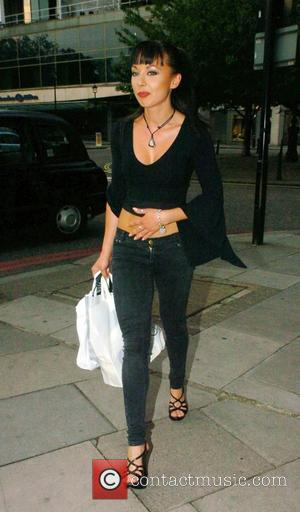 Gabriela Irimia of 'The Cheeky Girls' leaving the Hilton Hotel on Park Lane London, England - 31.05.08