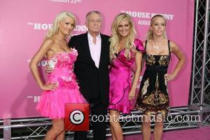 Holly Madison, Bridget Marquardt, Hugh Hefner and Kendra Wilkinson