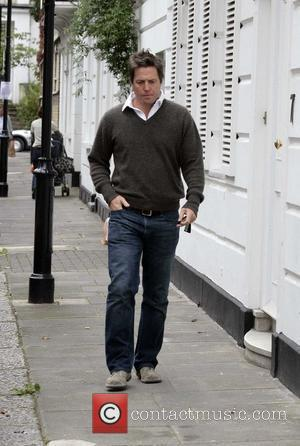 Hugh Grant seen out and about on the morning of his 48th birthday. London, England - 09.09.08