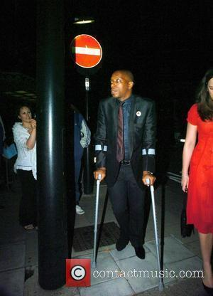 Ian Wright The former Arsenal player now the presenter of the Sky One show 'Gladiators' leaving the Dorchester hotel on...
