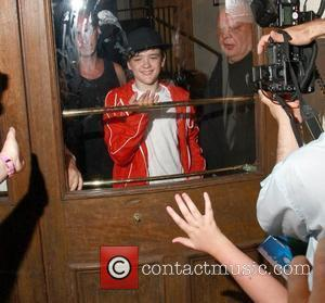 George Sampson leaving his press night performance in 'Into the Hoods' at the NovelloTheatre London, England - 06.08.08