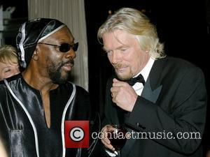 Isaac Hayes and Richard Branson