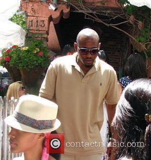 Omar Epps has lunch at The Ivy with his wife Los Angeles, California - 21.06.08
