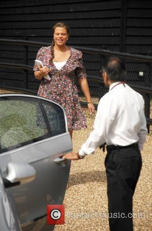 Jade Goody leaving her home in a taxi Essex, England - 21.08.08