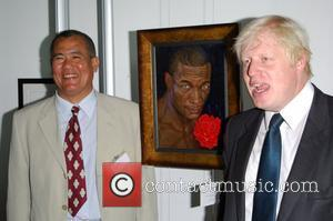 Boris Johnson and Mr Keene The Painter