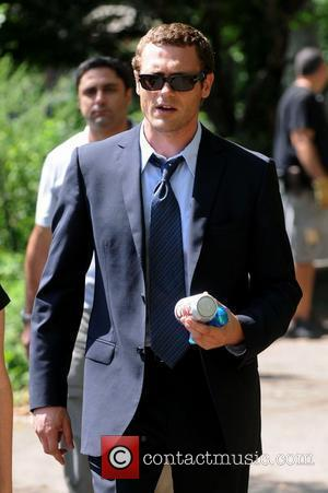 Jason O'Mara films the American re-make of the BBC drama 'Life On Mars' in the Lower East Side New York...