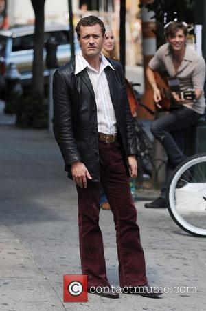 Jason O'mara on the film set for 'Life On Mars' filming in Manhattan's Lower East Side New York City, USA...