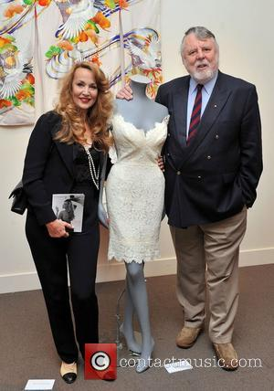 Jerry Hall and former hostage in Lebanon, Terry Waite attend preview of items she is auctioning off in aid of...