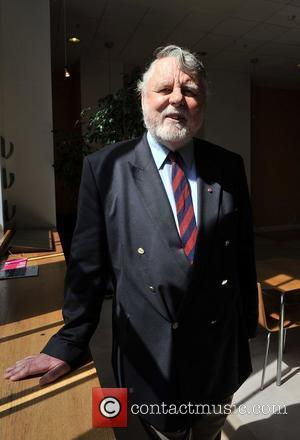 Former hostage in Lebanon, Terry Waite, attends preview of items that Jerry Hall is auctioning off in aid of homeless...