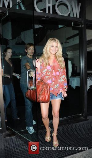 Ken Paves and Jessica Simpson