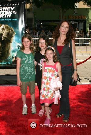 Amy Yasbeck and family Arrivals at the 'Journey to the Center of the Earth' premiere Los Angeles, California - 29.06.08