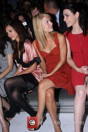 Jessica Alba, Claire Danes and Julianna Margulies Julianna Margulies seems to be showing a bit too much skin while sitting...