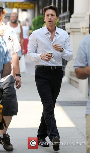 Andrew McCarthy on the set of 'Lipstick Jungle' filming in Queens New York City, USA - 22.07.08