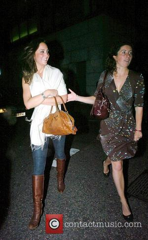 Kate Middleton and friend leaving Whiskey Mist in Mayfair London, England - 27.06.08