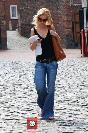 Katherine Kelly who plays Becky Granger in 'Coronation Street' leaving Granada studios where the soap is filmed Manchester, England -...