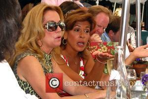 Kathy Lee Gifford and Hoda Kotb shoot a segment of NBC's the 'Today Show' at the world famous Ivy. Los...