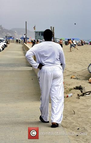 Actor Keith David has trouble finding a friend's party on Zuma beach in Malibu Los Angeles, California - 16.06.08