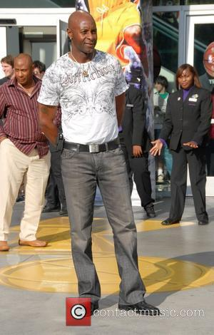 Jerry Rice Celebrities at the NBA Finals Game 4 between Boston Celtics and Los Angeles Lakers Los Angeles, California -...