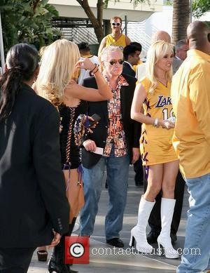 Kendra Wilkinson, Hugh Heffner and Staples Centre
