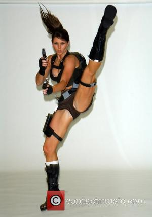 Alison Carroll The new face of Lara Croft from the game Tomb Raider that is out in November, appears before...