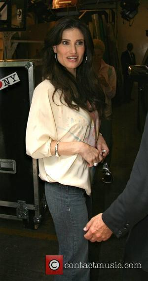 Idina Menzel leaving ABC Studios after appearing on 'Live with Regis and Kelly' New York City, USA - 17.06.08