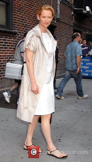 Tilda Swinton and David Letterman