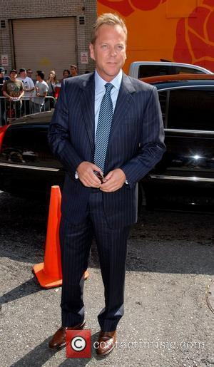 Kiefer Sutherland outside Ed Sullivan Theatre for the 'Late Show With David Letterman' New York City, USA - 07.08.08