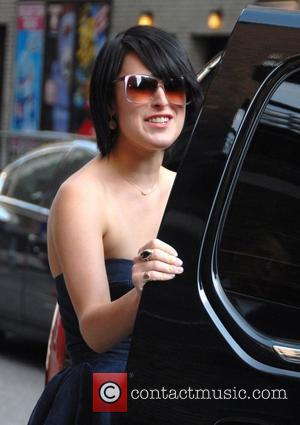 Rumer Willis, David Letterman and Ed Sullivan Theatre