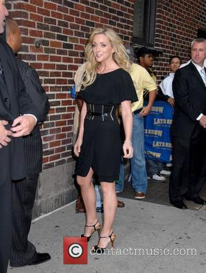 Jane Krakowski and David Letterman
